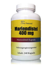 Pro Natural Mariendistel 400mg (320mg Silymarin) 240 Kapseln