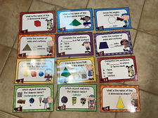 20 Pcs Teacher Made Math Center Task Cards (Color/Laminated) - Set 2