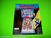 DRACULA By STERN 1979 ORIGINAL PINBALL MACHINE ADVERTISING PROMO SALES FLYER