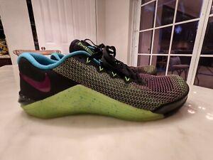 Nike Metcon 5 AMP. Black Fire Pink Volt Men's Cross Training Gym Shoes