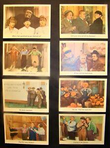 VINTAGE 1959 FLEER 3 THREE STOOGES CARDS SET OF 8, NUMBERS - 35 - 36 - 37 - 42 -