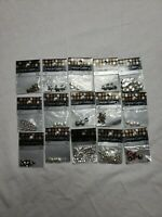 Metal Gallery Beads Lot of 15 NEW Jewelry Making hearts flowers bead