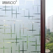 Rabbitgoo 3D Cross Pattern Frosted No Glue Static Cling Privacy Glass Window