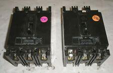Lot of 2 Westinghouse Circuit Breaker Eb3050 50 Amp 240 V 3 Pole