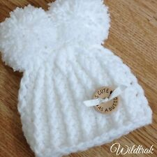 Lovely Newborn Baby  Beanie hat  Handmade Pom-pom Knit,crochet,Photo Prop Gift