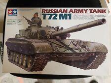 Tamiya 1:35 Military Miniature Series #160 Russian Army Tank T72 M1 Complete