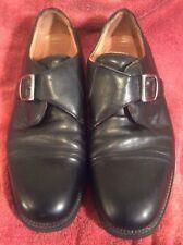 Men's Bostonian Strada Monk Strap Black Leather Oxford Dress Shoes Size 10.5M