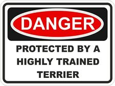Dog Breed TERRIER Danger Sticker Pet For Bumper Locker Car Door