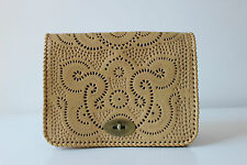 Ethnic boho leather hand tooled handmade purse clutch sling massager women bag