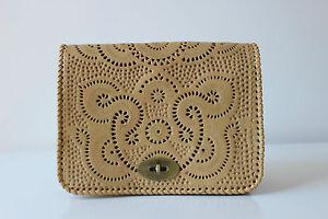 Ethnic boho leather hand tooled handmade purse clutch sling massager women bag
