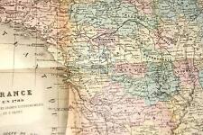 JULES MICHELET ABREGE D'HISTOIRE DE FRANCE-TEMPS MODERNES-1881-CARTE-RELIE