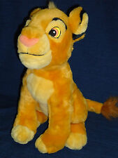 "Adorable 13.5"" stuffed DISNEY STORE  plush The Lion King BABY SIMBA"
