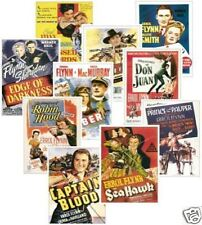 Errol Flynn Film Poster Trading Card Set