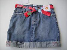 Gymboree NWT BURST OF SPRING Blue Denim Jean Skirt Belted Floral Adj Waist 6
