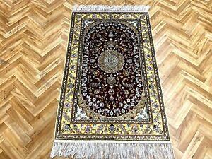 Orientteppich Perserteppich Teppich Seidenteppich 120x76 Luxus Pur Neuwertig