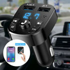 Bluetooth FM Transmitter Wireless Hands-Free Car Kit Dual USB Charger MP3 Player