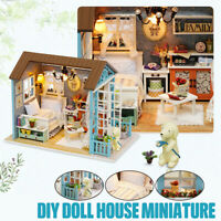 Doll House Miniature DIY Dollhouse W/ Furnitures Wooden House Toys For