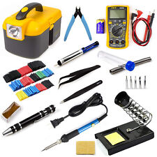 60W Soldering Iron Kit Adjustable Temperature Electrical Welding Tool Gun Set