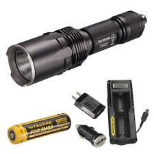 NiteCore TM03 2800 lumen CREE XHP70 LED Flashlight + UM10 Charger & USB Adapters