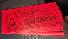 New listing Antique (lot Of 28)1930s Pearsons Red Top Snuff Byfield Snuff Co. Vintage Label