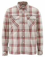 Simms Closeout Kenai Long Sleeve Shirt Ruby Plaid, Select Sizes