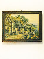 Antique Marion Mfg. Co. Inc. Print of English Cottage Thatched Roof '20's-'30's