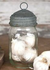 Unique Mason Jar Screen Dome Lid-Sprouter,Terrarium, Dryer, More:Barn Roof Grey
