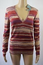 Bnwt Bensimon Violet & Orange Space Dyed Pullover - Size Small (R105)