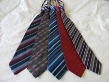 SET of 5-pcs Men Pre-Tied Zip-Up Neck Ties (Variety Color)--Brand NEW