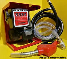 Pompa Travaso Gasolio + contalitri + pistola ELETTROPOMPA diesel 600W