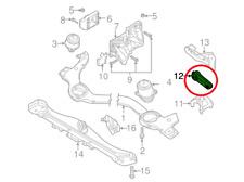 2005 Porsche Cayenne V8 TURBO Engine Torque Damper Torsion Rod Mount 95537510113