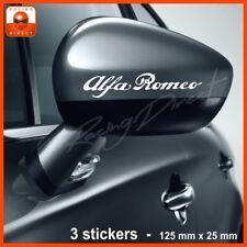 797 Pack 3 stickers logo ALFA ROMEO decal aufkleber adesivo Mito 147 Giulietta