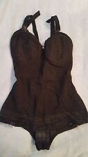 Vintage Saks Fifth Avenue Lingerie Lady Marlene Girdle 36C Style920 Black -Movie