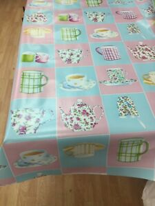 WIPE CLEAN PVC VINYL TABLECLOTH FABRIC WIPEABLE COVER PROTECTOR WATERPROOF