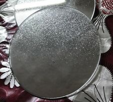 ❤️ Set 4 Glittery Silver Mirror Sparkle Glass Coasters Circle Bling mirror Gift