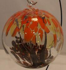 """6"""" Fire Banyon Spirit Tree Witch Suncatcher Kugel Friendship Glass Ball"""