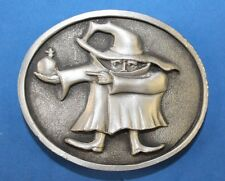 Masked caped character action figure - pewter belt buckle -     Who is this?????