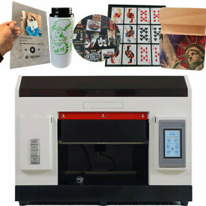 UV Printer A3 Flatbed Cylindrical Signs Glass Metal 3D Rotation Embossed 1390