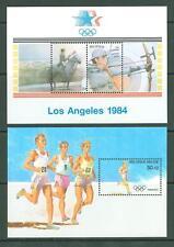 Block N57 Belgium 1984/88 MNH 2s/s Sport Olympics Riding Archery