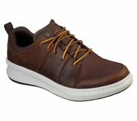 Skechers Brown shoes Men Memory Foam Sporty Casual Comfort Leather Oxford 210045