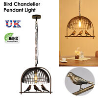 Industrial Retro Style Pendant Light Chandelier Ceiling cage Lampshade Vintage