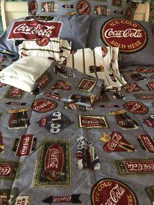 Coca Cola KING Size Bedding Set Comforter Sheets Pillow Cases Shams Bed Skirt