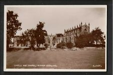 Castle and Chapel Bishop Auckland 1950's ? RP Postcard ~ Durham ~ GOOD QUALITY