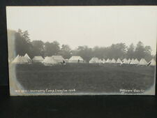 Military - West Kent Imperial Yeomanry camp Langton 1906 - Officers quarters r/p