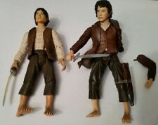 "Lord Of The Rings Frodo Baggins 4.5"" Action Figure lot ToyBiz 2003 Sword Attack"