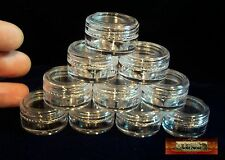 M00117 MOREZMORE 10 Small Clear Acrylic Storage Jar Pot Containers Lids 5 ml A60