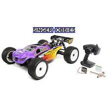 LOSI 1/8 8IGHT-T 4WD Radio Control Truggy Nitro RTR, Purple/Yellow LOS04011 HH