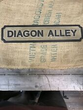 Lovely Rare Vintage Handmade Diagon Alley Wooden Sign SU1202