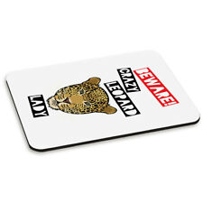 Fai attenzione Crazy Leopard Lady PC Computer Tappetino Mouse Pad-ANIMALE BUFFO