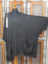 Barbara Speer ausgefallenes leichtes Oversize Shirt in anthra old look NEU!!